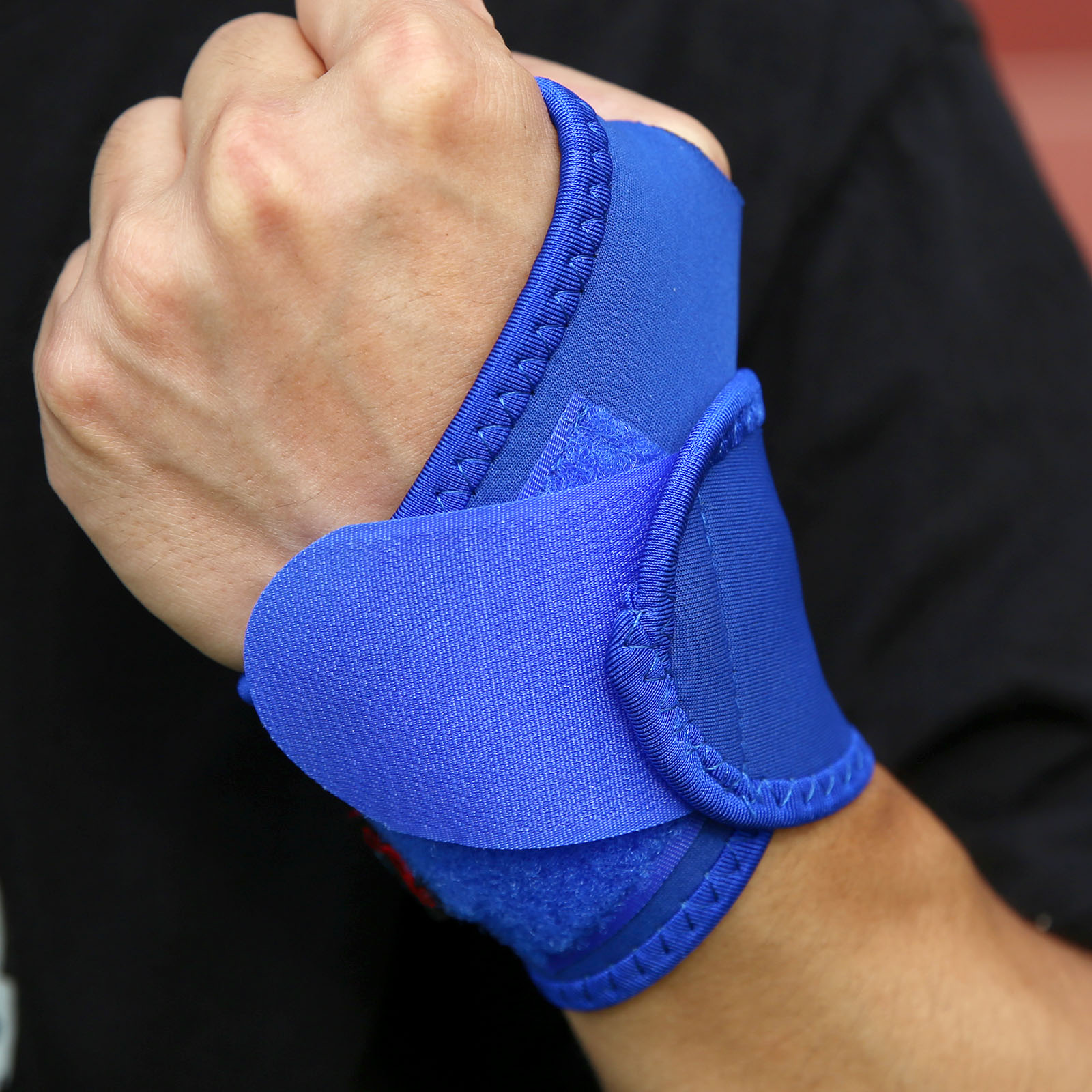 1Pc Blue/Black Outdoor Sports Safety Wrist Support Wristband Carpal Breathing Wrist Support Strap Brace Arthritis Sprain Protect