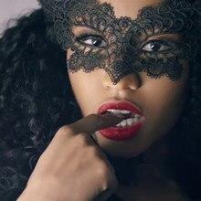 Маскарадный кружевной маска женщина-кошка Хэллоуин Черный Вырез Вечерние Маски аксессуары 10,11