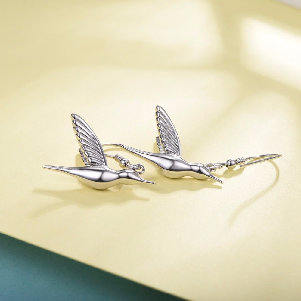 Collare 100% 925 prata esterlina pássarobeija flor