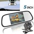 5 Дюймов Цветной TFT LCD Автомобильное Зеркало Заднего Вида Монитор Заднего Вида Автомобиля парковка Монитор + 170 Градусов Ночного Видения Заднего Вида Обратный камера