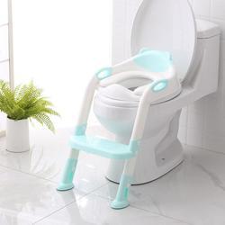 Chico plegable orinal bebé infantil chico s baño formación asiento ajustable con escalera portátil orinal entrenamiento para asientos de seguridad para niños