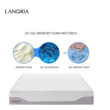 ship from us langria 10inch modern triple layer cool gel sleep bed memory foam mattress ecofriendly healthy mattress twin full queen size