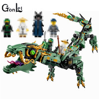 592pcs Movie Series Flying Mecha Dragon Building Blocks Bricks Toys Children Model Gifts Compatible With Figures
