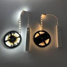 PIR móvil sin cables, sensor LED de luz nocturna, armario de cama, escaleras, Sensor de luz, luminaria USB5V, tira LED, lámpara de noche para retroiluminación de TV