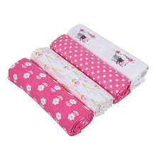 4 Pieces/Batch Cotton Baby Soft Newborn Blanket Wrap Girl