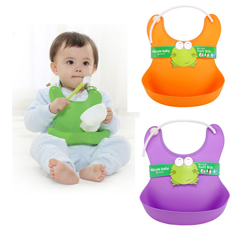Baby bibs waterproof Lunch Bibs Boys Girls Infants silicone feeding baby saliva towel cartoon waterproof aprons арахис saliva baby 350g