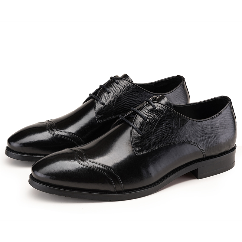 breathable mens office shoes fashion coffee black mens business shoes genuine leather dress. Black Bedroom Furniture Sets. Home Design Ideas