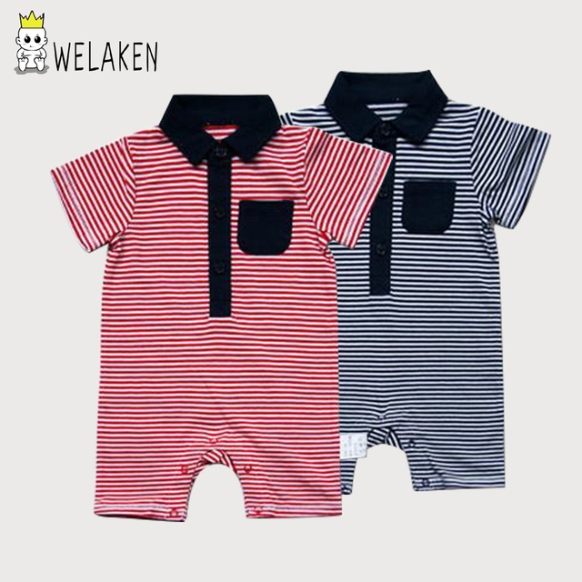 e93a3b42e7c6 weLaken 2017 Newborn Rompers Baby Boy Clothes Short Sleeve Cotton ...