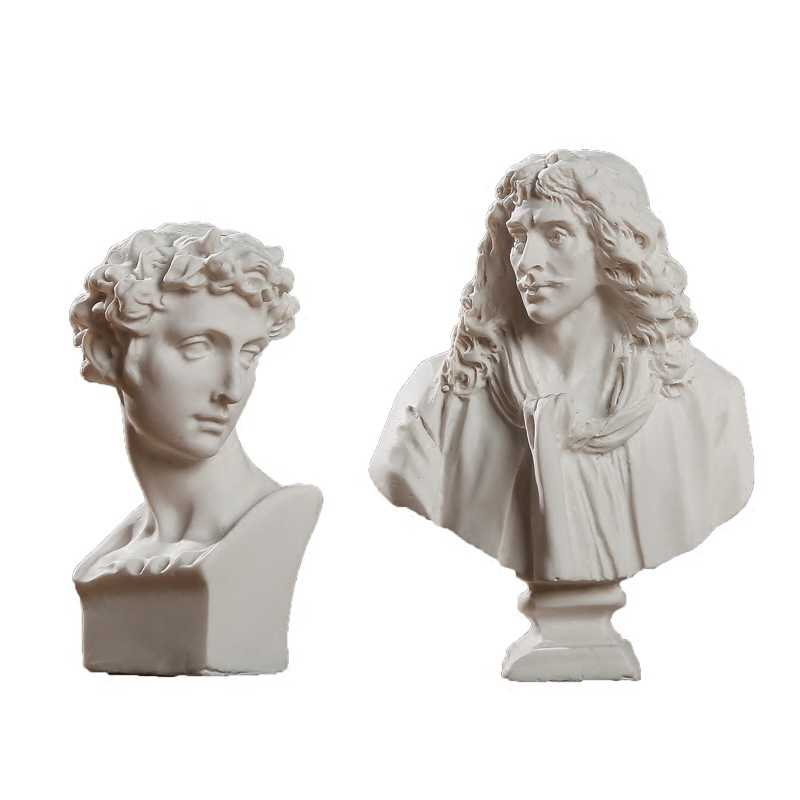 World Famous Statue Mini Figure Moliere/Ares Plaster Figure Decoration  Resin Bust Sketch practice Model / resin sculpture/Crafts