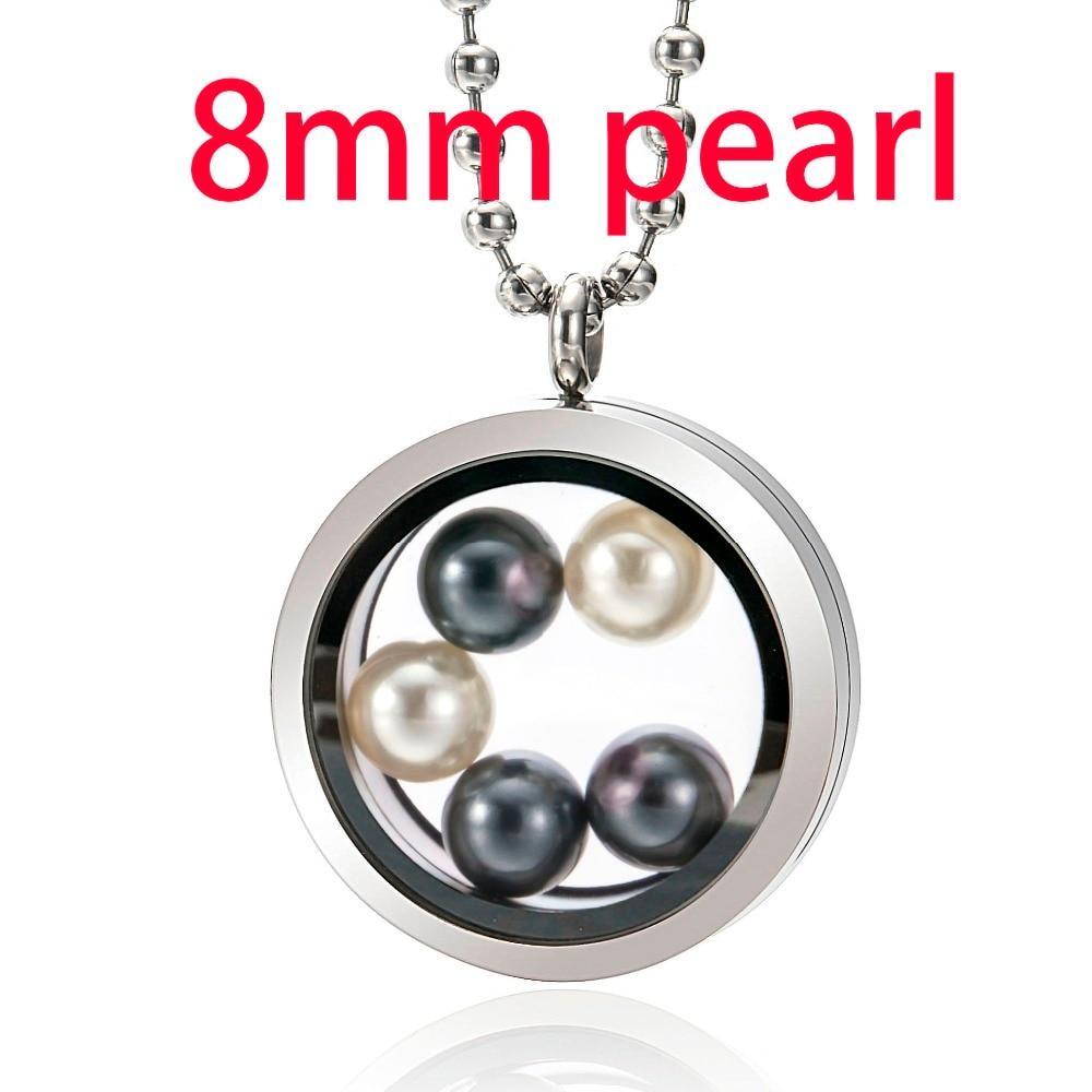 Takı ve Aksesuarları'ten Gerdanlıklar'de Yeni Varış Madalyon için 8mm Inci 316L paslanmaz çelik madalyon Cam oturma hatıra madalyon Kolye Hayır Inciler anneler Günü Hediyesi'da  Grup 1