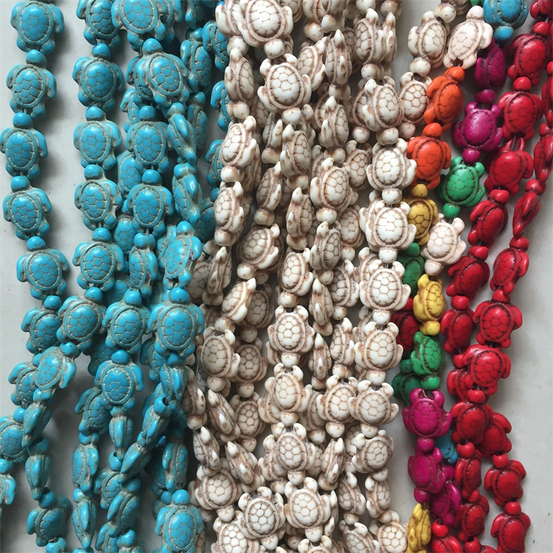 Charm Rayure Blanche Turquoise Gems loose Spacer Beads Jewelry Making 4//6//8//10mm