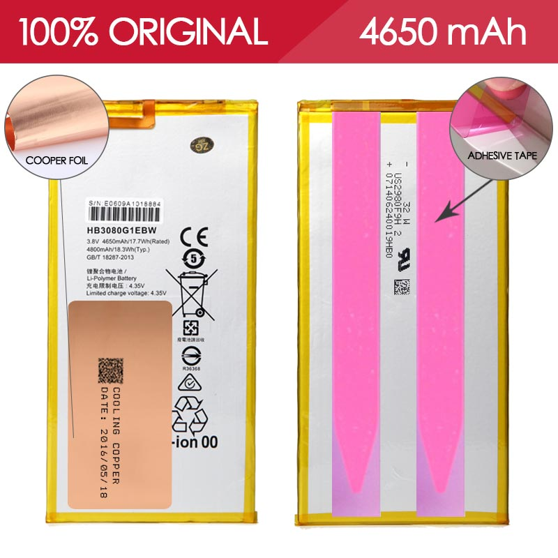 Allparts 100 Tested HB3080G1EBW 4650mAh Li ion Mobile Phone Battery For Huawei S8 S8 701W 701U