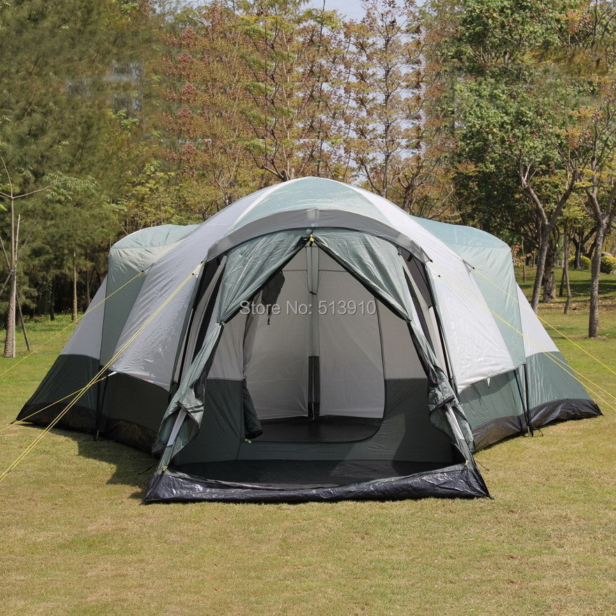 3Room 1hall 6 12Persons super large double layer rainproof outdoor family c&ing tent tent-in Tents from Sports u0026 Entertainment on Aliexpress.com   Alibaba ... & 3Room 1hall 6 12Persons super large double layer rainproof outdoor ...