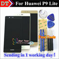 """Alta Qualidade da Tela de Toque Do Painel de Toque Digitador + Display LCD de Substituição Para Huawei P9 Lite/G9 5.2 """"telefone de Ouro Branco Preto"""