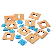 Versión de la familia Montessori Juguete de Madera Del Bebé Inserciones Set/10 de La Primera Infancia Educación Formación Preescolar Juguetes Para Niños Brinquedos juguetes