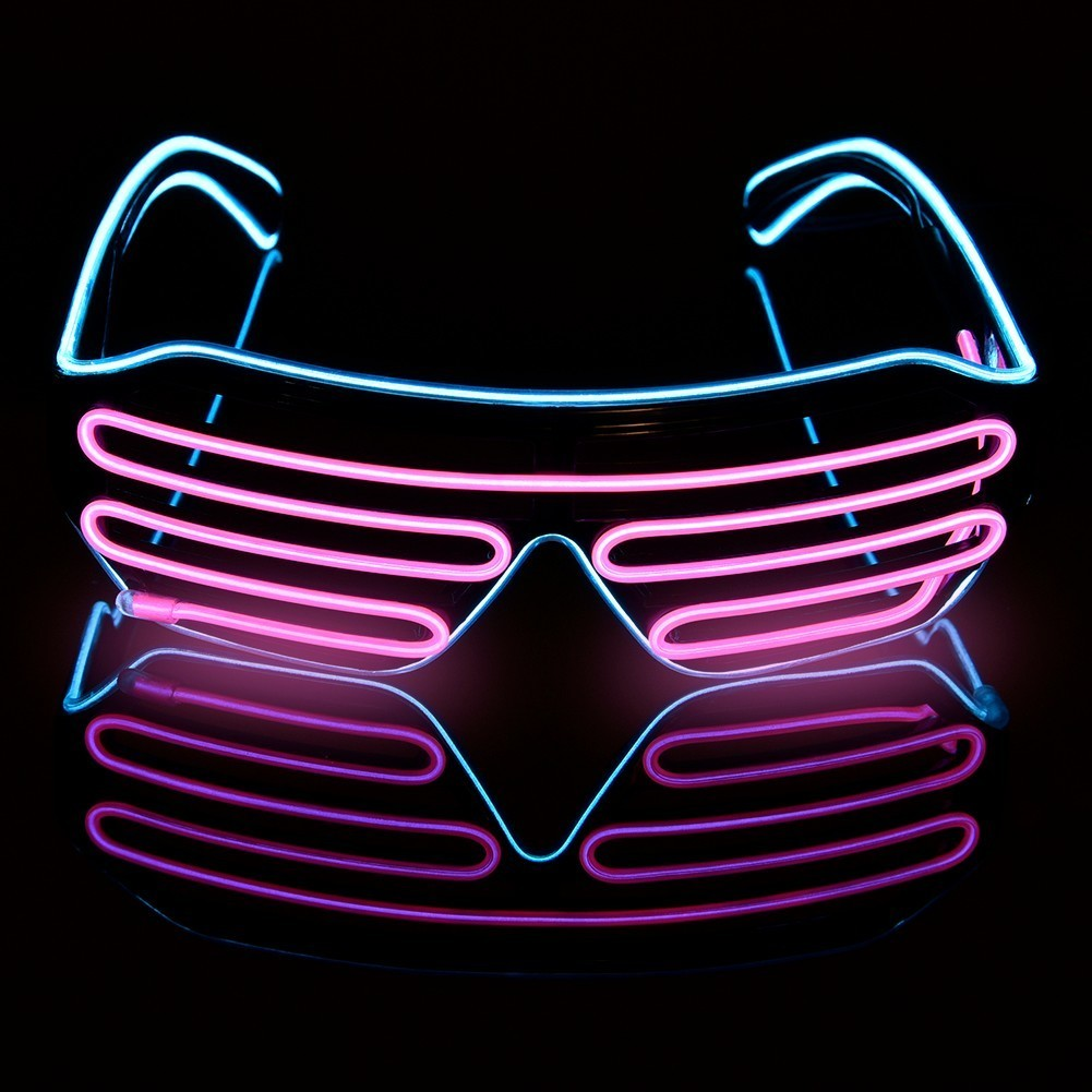 Novelty LED Glasses Light Up Shades Flashing Luminous Rave Night Christmas Activities Wedding Birthday Party Decoration 4 Colors rave fm page 4