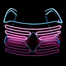 21834561b4 Novedad gafas LED luces hacia arriba sombras parpadeantes luminoso Rave  noche Navidad actividades boda cumpleaños fiesta