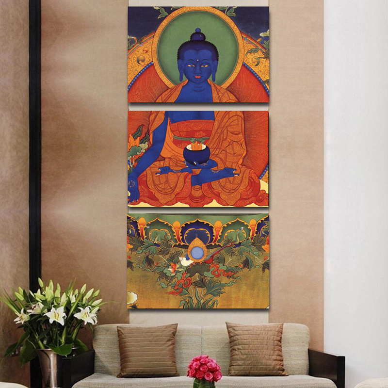 Buddhism 3pcs Abstract Buddha Modern Home Decor Canvas