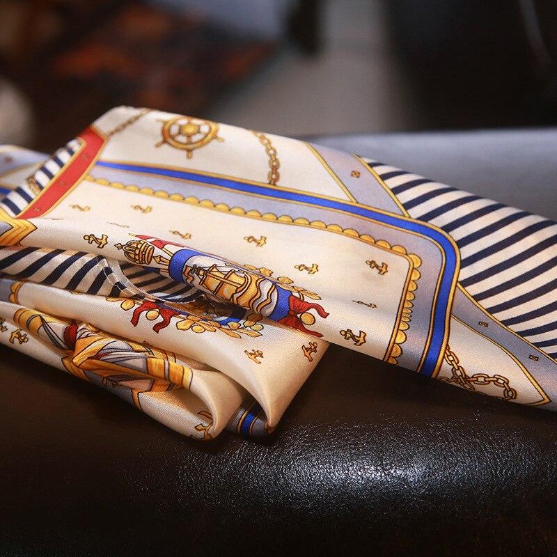 Super Quality Creative Innovative Style Star Decorative Silk Scarf Striped Silk Scarf