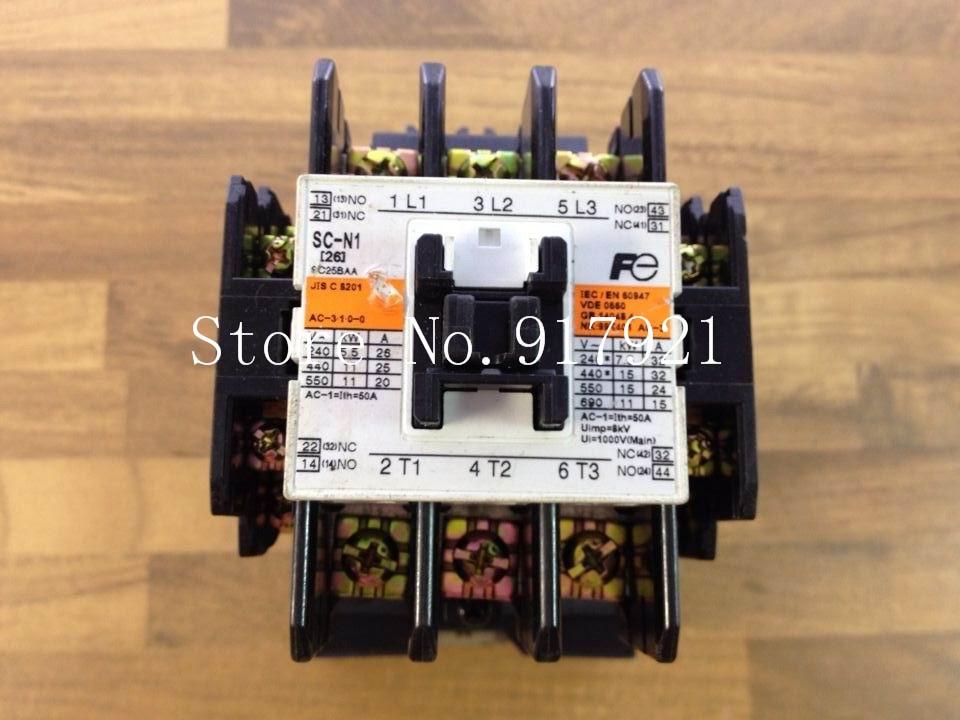 [ZOB] Fe SC-N1 DC24V- 24V220V 50A contactor Fuji Elevator contactor genuine original