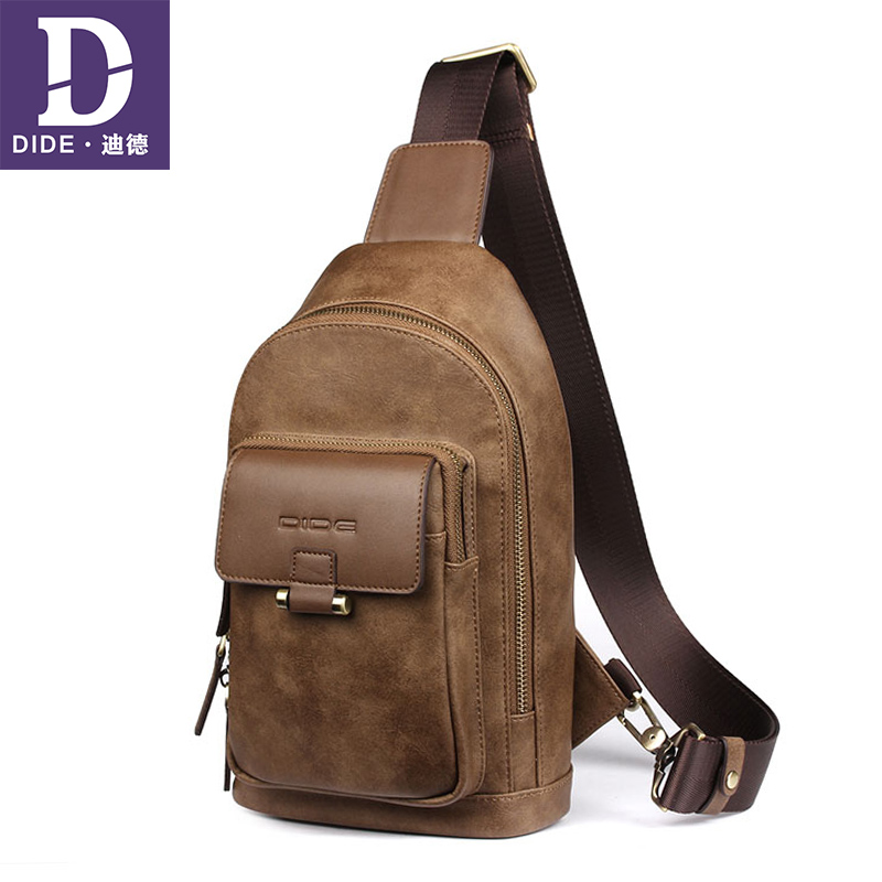 2018 New Bag Men Cross Body Shoulder Bag Small Cell Phone Messenger Bags Leather Chest Pack Mens Chest Bags все цены