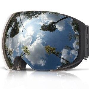 Image 2 - COPOZZ lunettes de Ski magnétiques avec lentille à changement rapide 2s et ensemble de boîtiers UV400 Protection Anti buée Snowboard lunettes de Ski pour hommes femmes