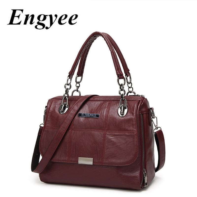 Female Top handle Bag Women Handbags Genuine Leather Crossbody Bags For Women Famous Brand Girls Messenger Shoulder Sling Bag