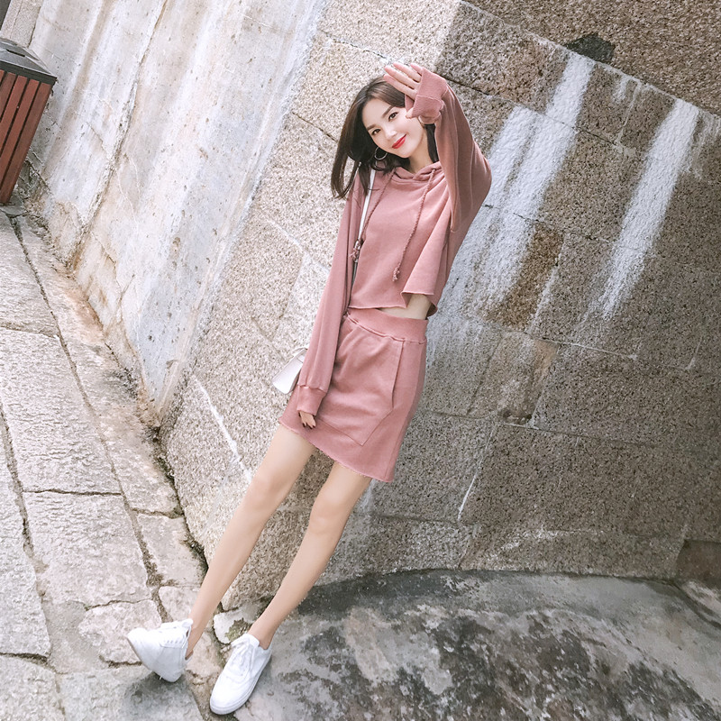 New Goddess Nifty Little Breeze Skirt Bungee Jumping Two-piece Suit Female Fashion Cool Tide Autumn Winter Woman Tracksuit Sets