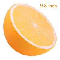 25cm Soft Squishy Orange Huge Simulation Fruits Toy Cartoon Gift Decor Slow Rising Adults Relax Squishies Kids Toys Educational