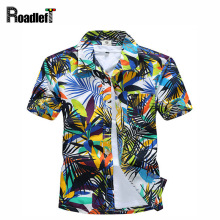 New 2017 Men's clothing summer short sleeve shirts Men hawaiian shirt casual floral shirt camisas masculina, plus size 4XL