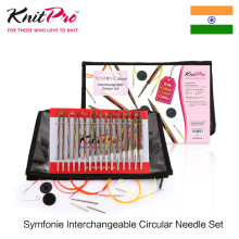 Knitpro symfonie agulha circular intercambiável conjunto com tricô agulha ponta knitting cabo