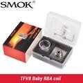 100% original smok tfv8 bebê rba rba bobina e v8 tubo de vidro & anéis de vedação exclusivo Apto para TFV8 Bebê tanque