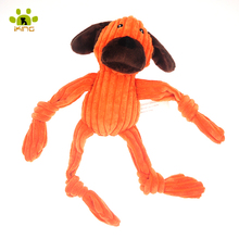 Dog Shape Brand New Funny Dogs Toys Short Plush Squeakey Pet Toys Stuffer Chew Dog Toys for Small Dogs(color vary)