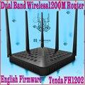EnglishFirmware FH1202 Tenda 11AC Dual Band 2.4G & 5G 1200 Mbps Wireless Router WiFi 5 omni-direcional antenas, WDS Ponte