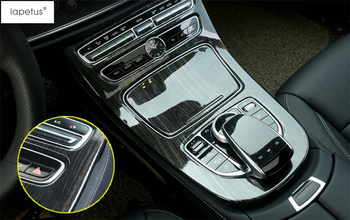 Lapetus Accessories For Mercedes Benz E Class W213 2016 - 2020 ABS Transmission Shift Gear Panel Molding Cover Kit Trim / ABS