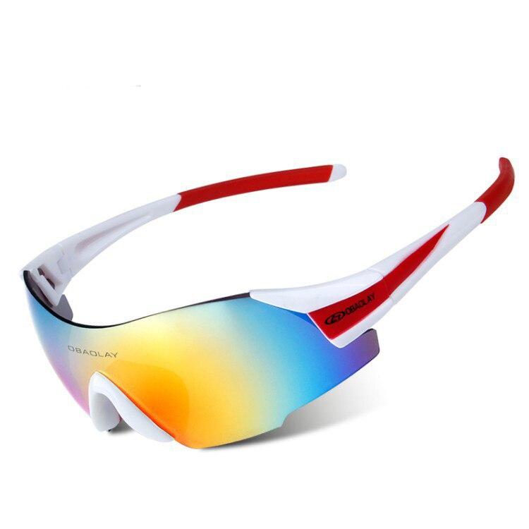 Lunettes de soleil de sport de plein air lunettes de moto rétro de conduite de voyage de Cross-Country pour l'escalade et le ski , yellow , Colorful