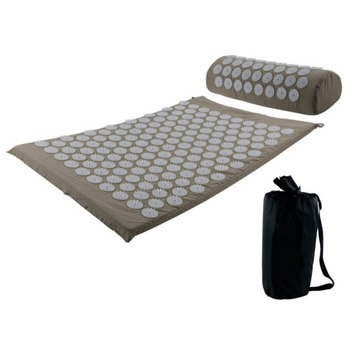 Acupressure massages mat which relieves stress and body pain including back neck and foot