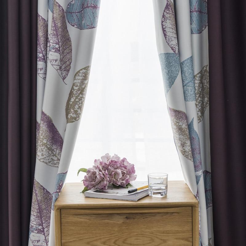 High Window Curtains: Abbiemao Floral Printing High Precision Curtain Cloth High