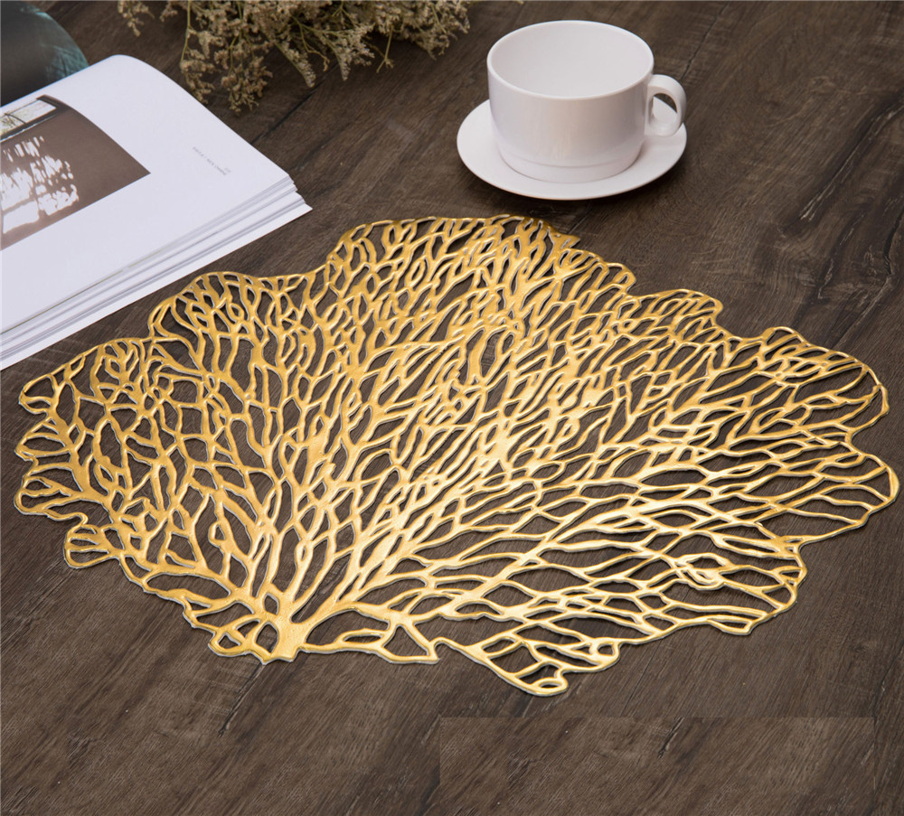 Frank New Non-slip Table Placemat Pvc Water-proof Dining Dish Pads Coaster Hollowed-out Decorative Table Mat Kitchen Decor Mats & Pads