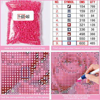 Huacan 5D Diamond Painting Indian Girls Cross Stitch DIY Diamond Embroidery Full Diamond Mosaic Home