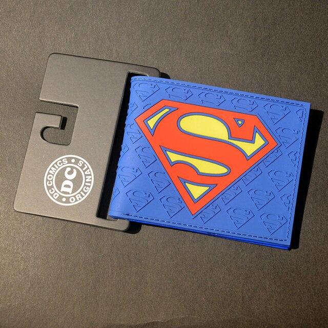 Comics Dc Marvel the Avengers Cartoon Wallet Batman Flash Superman Iron Man 3D Purse Logo Credit Card Holder Man Wallet Kids Wallets