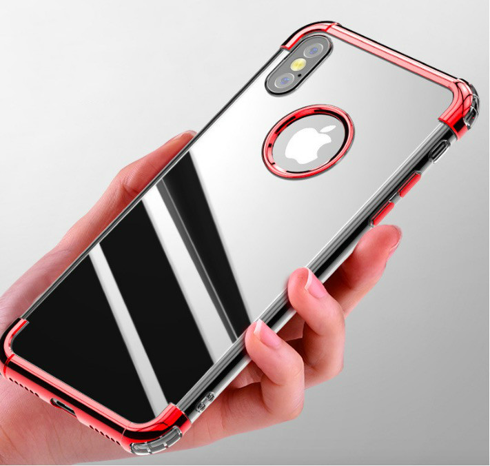for iPhone X 8 7 6 6S 7S Plus Galaxy S8 PLUS Wholesale 2000pcs Luxury Hybrid Shockproof Clear Gel TPU Soft Case Cover Housing