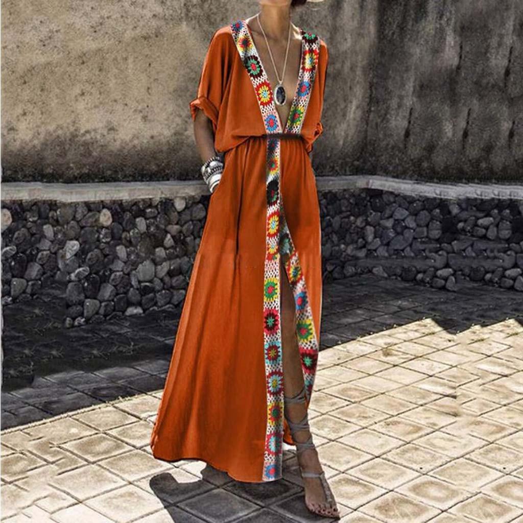 Summer Ladies Long Dress Boho Floral Print Beach Dress Maxi Dress Women Evening Party Dress Sundress Vestidos de festa New #20