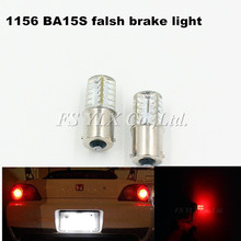 2pcs Brilliant Red 1156 S25 BA15 LED Bulbs For car Turn Signal Lights Brake Light P21W 5630 LED Strobe Flash Brake BA15S Lights