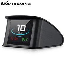 Head Up Speedometer Display Hud GPS OBD Computer Car Speed Digital Display Fuel Consumption Temperature Gauge Diagnostic Tool