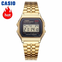Часы Casio Analogue Мужские кварцевые спортивные часы тенденции ретро маленькие золотые часы