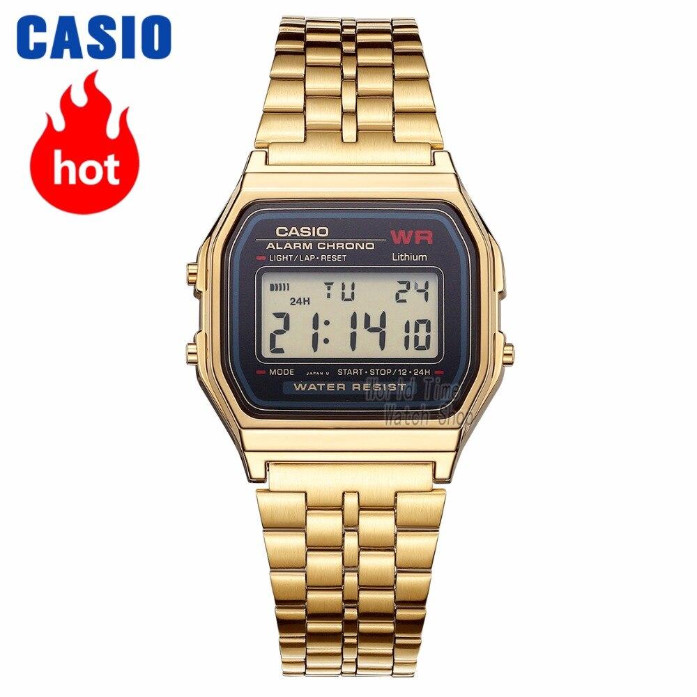 21b313eda6e Casio relógio Analógico Esportes Relógio de Quartzo Tendência retro pequeno  relógio de ouro dos homens