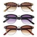 1 pcs Popular Dourado Espelhado Óculos De Sol Retro Metade Quadro Shades Estilo Clássico Quadro Óculos Óculos De Sol 2016 Venda Quente