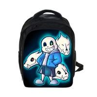 Anime Character Undertale Teenage Girls Boys Book Bag Sans Women Mochila Men Travel Bag Undertale Children