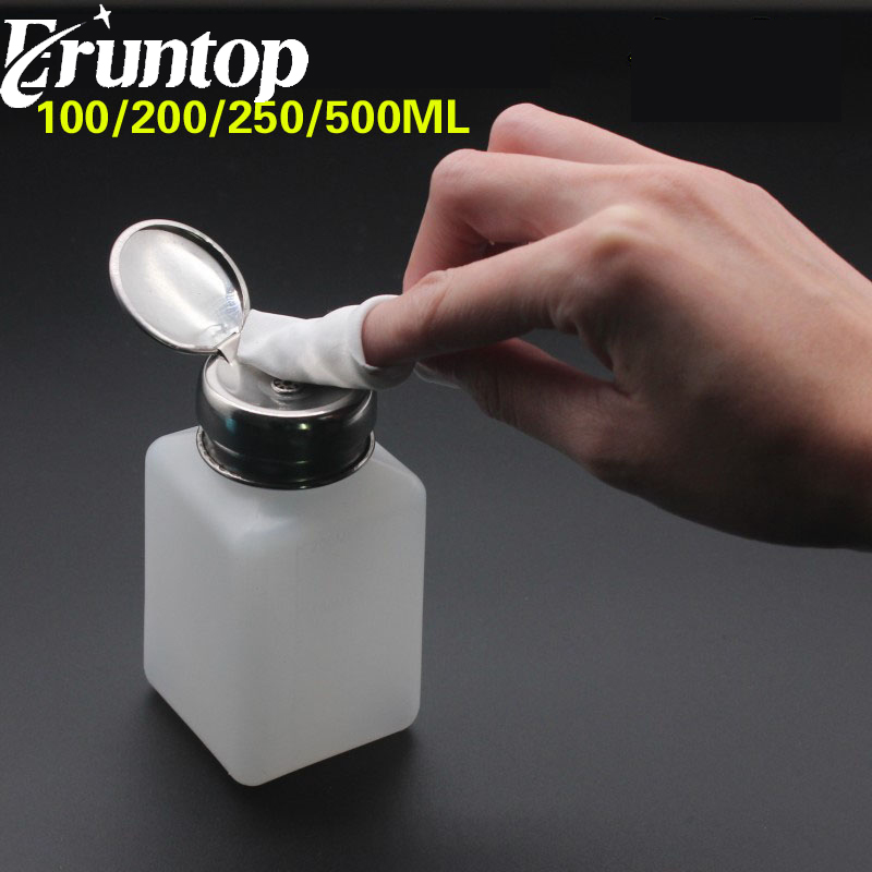1PCS 120/ 200/ 250/ 500ML White Alcohol Liquid Pumping Dispenser Bottle For Phone Repair LCD Screen Glue Remover Liquids